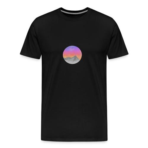 Sonnenuntergang in den Bergen - Männer Premium T-Shirt