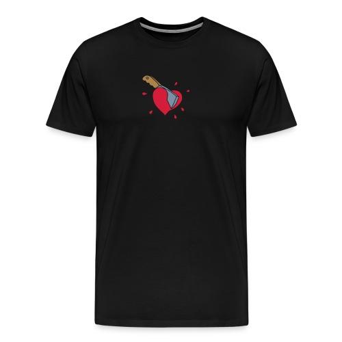 Broken Hearts Love Hate Axe Knife Messer Axt Kill - Männer Premium T-Shirt