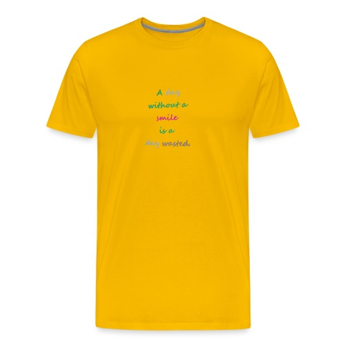 Say in English with effect - Men's Premium T-Shirt