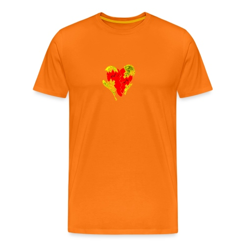 peeled heart (I saw) - Men's Premium T-Shirt