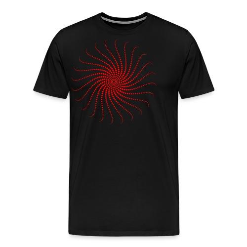Energie Spirale Kreis Chakra Punkt Sonne Musik Goa - Männer Premium T-Shirt