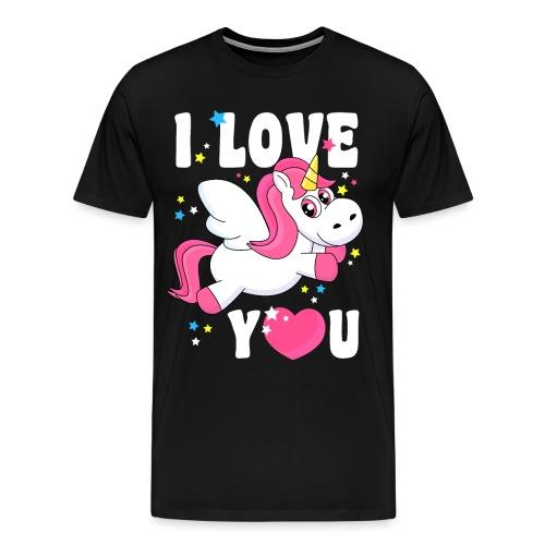 I love You Einhorn - Männer Premium T-Shirt