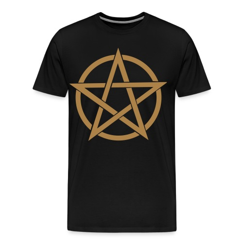 Pentagramme Wicca - T-shirt Premium Homme