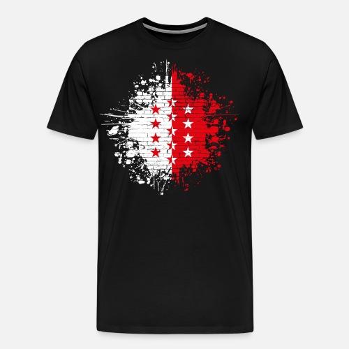 WALLIS VALAIS SPLASH - Männer Premium T-Shirt