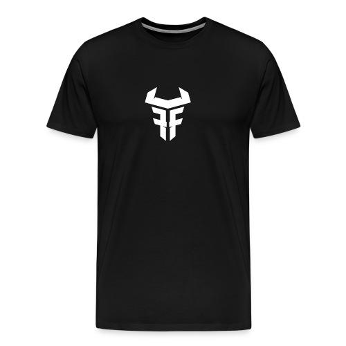 Fit Fight Bull Logo white small - Männer Premium T-Shirt