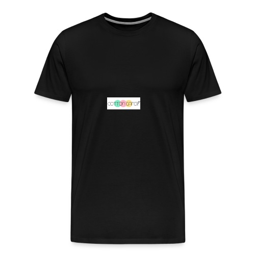 COTTON CANDY LOGO - Men's Premium T-Shirt
