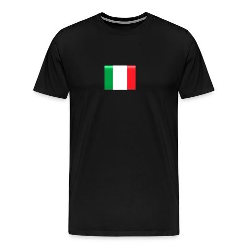Muurprint wanddecoratie Vlag van Italie 03 jpg - Mannen Premium T-shirt