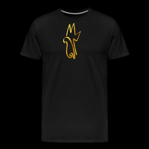 Gold Meemiphes Logo - Miesten premium t-paita