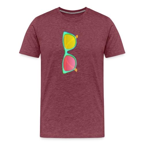 Vintage Retro Glasses Pop Art Style - Men's Premium T-Shirt