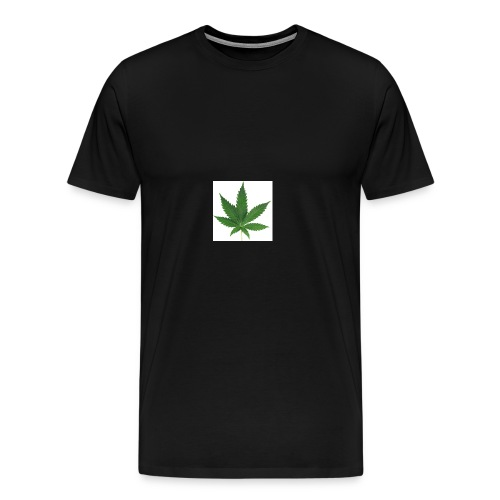 sticker feuille de cannabis - T-shirt Premium Homme