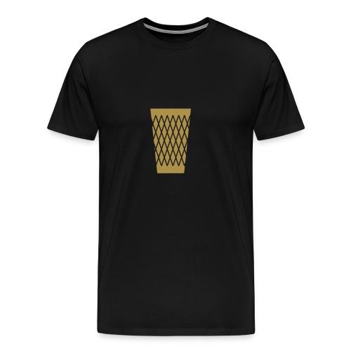 Ebbelwoi Geripptes - Männer Premium T-Shirt