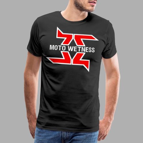 Moto Wetness - WHITE / RED EDITION - Men's Premium T-Shirt