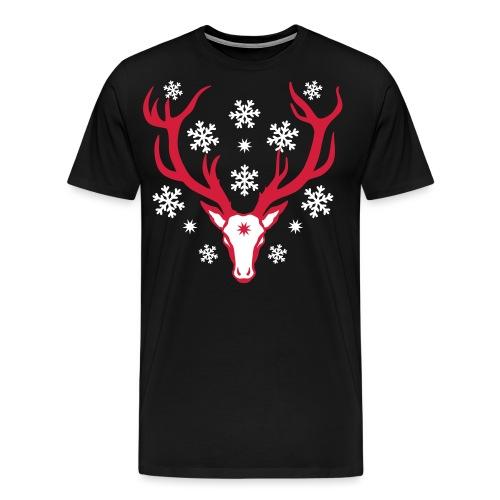 Hirsch Rudolph Rentier Snow Schnee 2c - Männer Premium T-Shirt