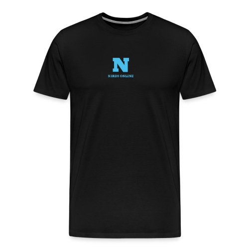N3rds Logo Blue Small - Men's Premium T-Shirt