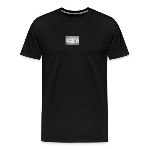 like & SHARE - Men's Premium T-Shirt