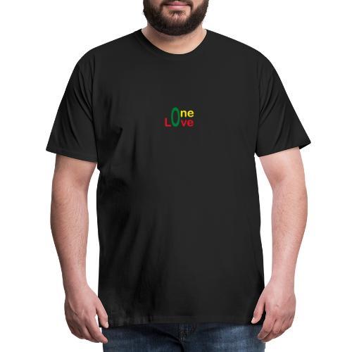 One love 01 Vert jaune rouge - rastafarie - T-shirt Premium Homme