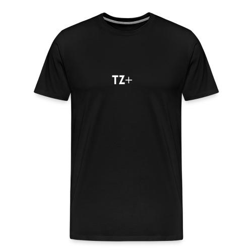 TZ+ white logo - Men's Premium T-Shirt