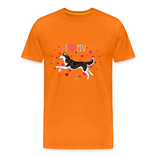 huskylove2 - Men's Premium T-Shirt