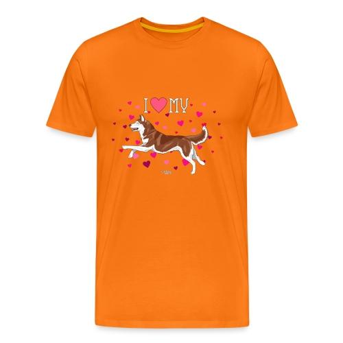 huskylove3 - Men's Premium T-Shirt