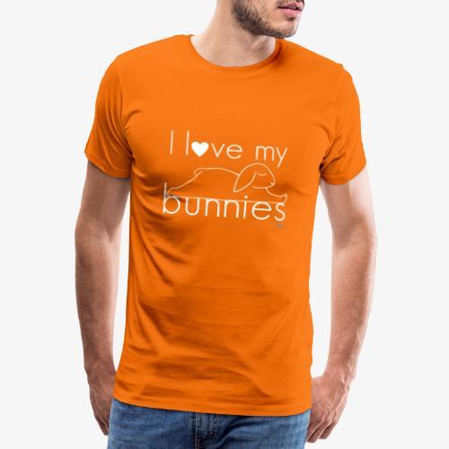 I love my bunnies I - Miesten premium t-paita
