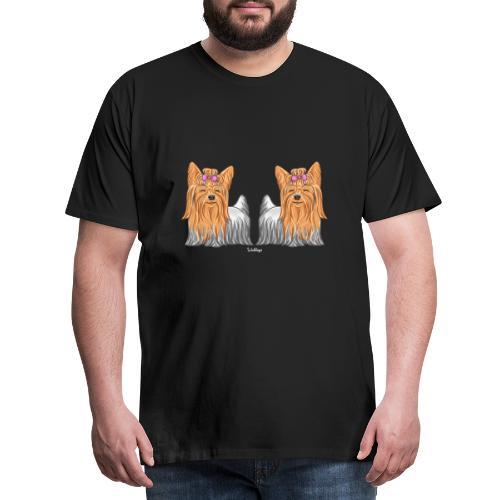 Yorkie Pair - Miesten premium t-paita