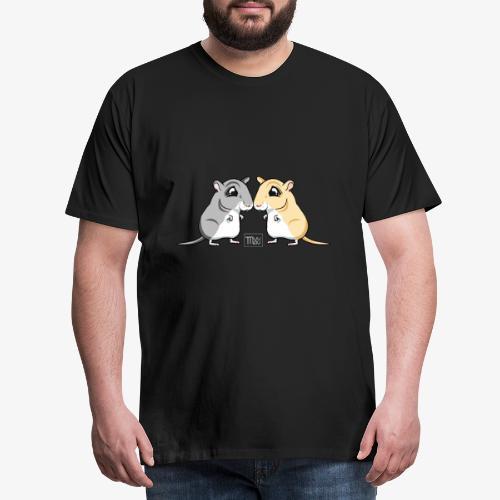Gerbil Pair II - Miesten premium t-paita