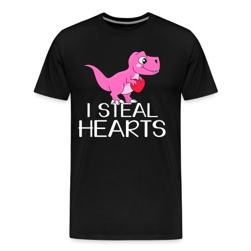 I steal hearts T-Rex - Männer Premium T-Shirt