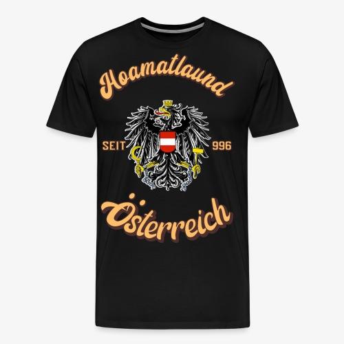 Österreich hoamatlaund retro desígn - Männer Premium T-Shirt