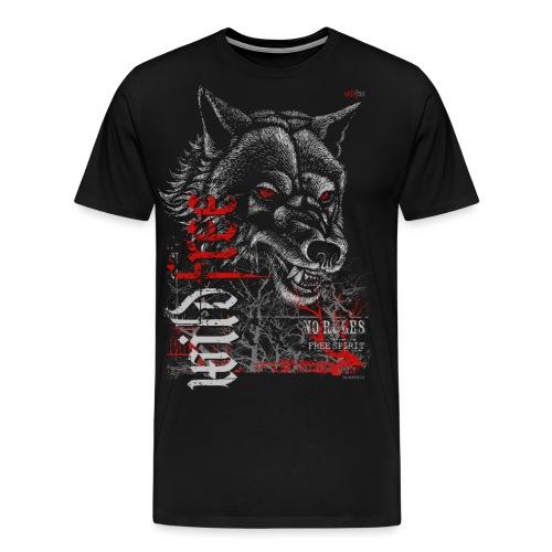 WILDFREE | WOLF - Männer Premium T-Shirt