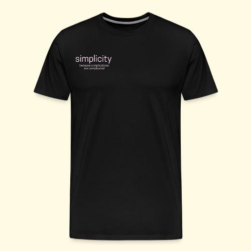 simplicity - Männer Premium T-Shirt