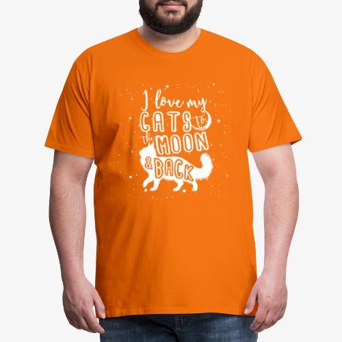 Cats Moon 2 - Miesten premium t-paita