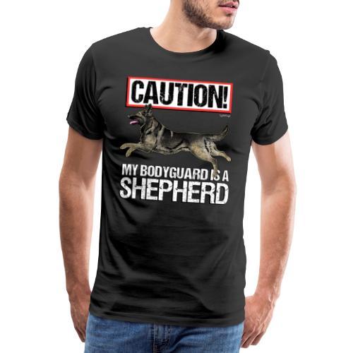 German Shepherd Bodyguard - Miesten premium t-paita