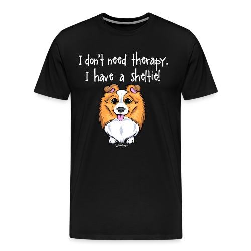 Sheltie Dog Therapy 2 - Men's Premium T-Shirt
