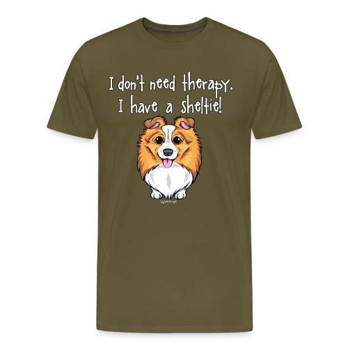 Sheltie Dog Therapy 2 - Men's Premium T-Shirt