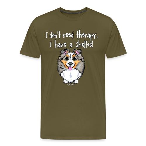 Sheltie Dog Therapy 3 - Men's Premium T-Shirt