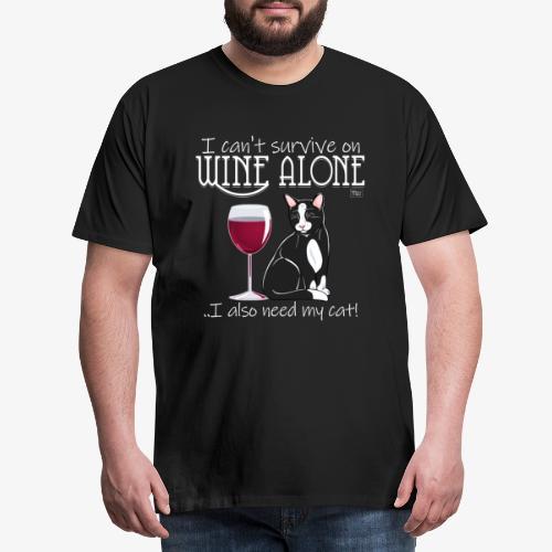 Wine Alone Cat II - Miesten premium t-paita