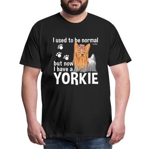 Yorkie Normal - Miesten premium t-paita