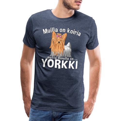 Yorkki Koiria - Miesten premium t-paita