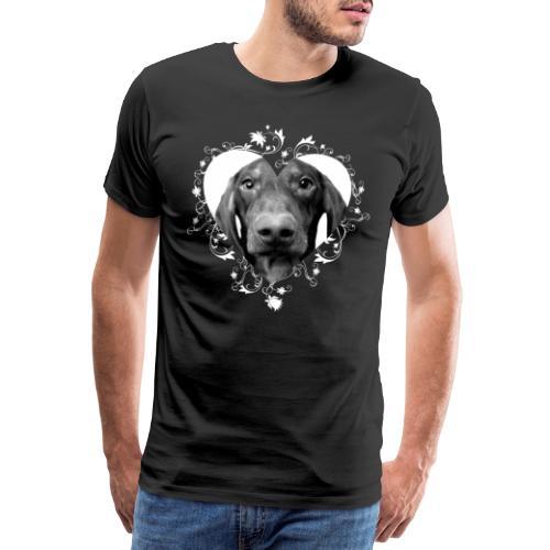 Dachs LK NASSU sydän - Miesten premium t-paita