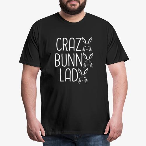 Crazy BunnyLady - Miesten premium t-paita
