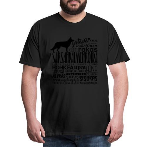saksanpaimenkoirasanatx - Miesten premium t-paita