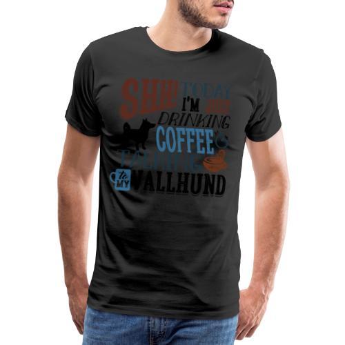 SHH Vallhund Coffee B - Miesten premium t-paita