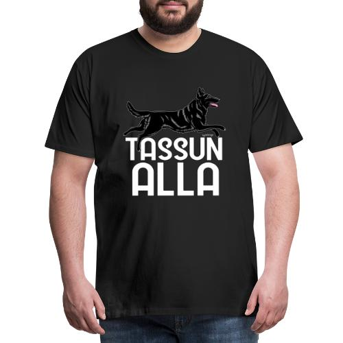 Saksanpaimen Tassu 3 - Miesten premium t-paita