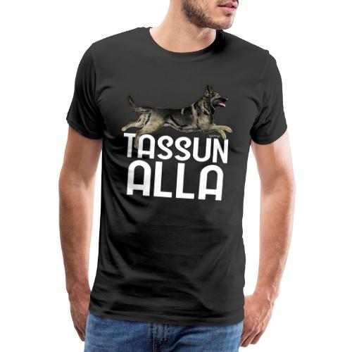 Saksanpaimen Tassu - Miesten premium t-paita