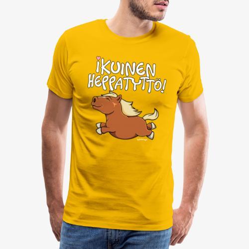Ikuinen Heppatyttö - Miesten premium t-paita