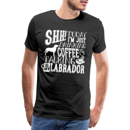 SHH Labrador Coffee 4 - Miesten premium t-paita