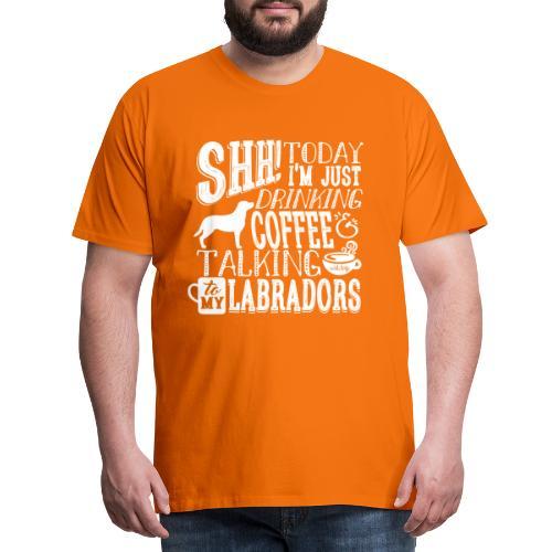 SHH Labrador Coffee 3 - Miesten premium t-paita