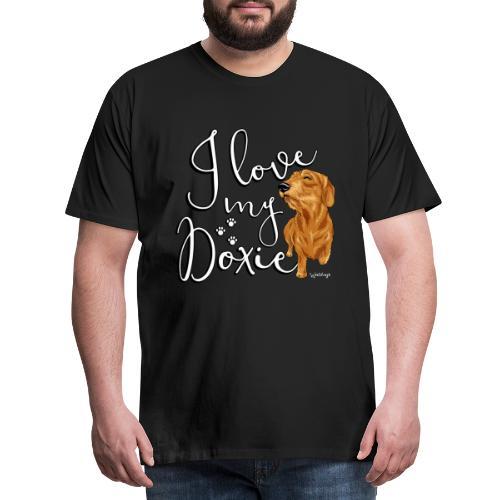 Dachshund WH Love - Miesten premium t-paita