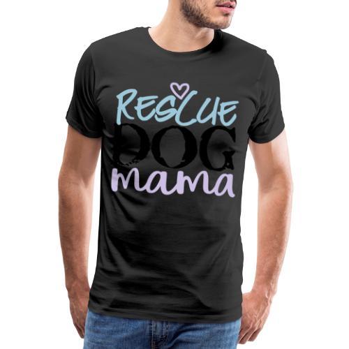 rescuedogmamacolor - Miesten premium t-paita