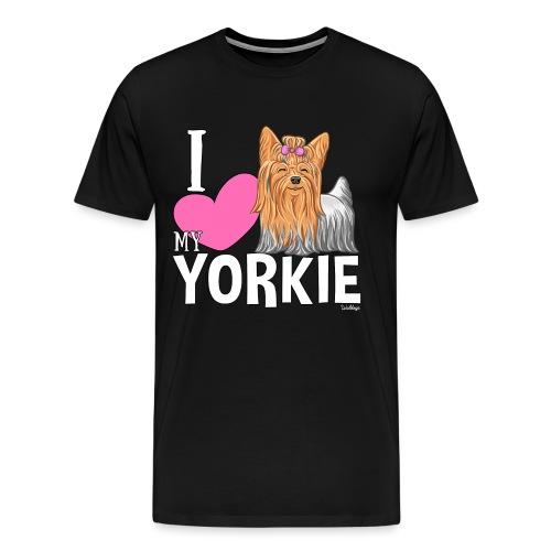 I love my Yorkie - Miesten premium t-paita
